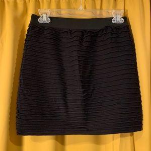 Stretch Ruffle Textured Mini Skirt